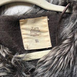 Zara faux fur waistcoat medium